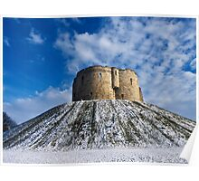 Clifford's Tower, York, in Winter Poster