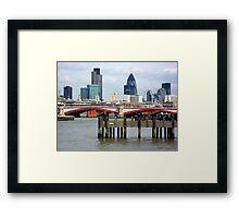 London's Skyline Along The Thames Framed Print