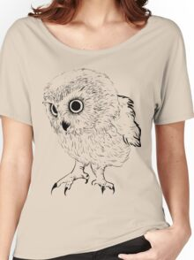 Owl hand drawn Women's Relaxed Fit T-Shirt