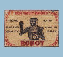 Vintage Robot Match Box Kids Tee