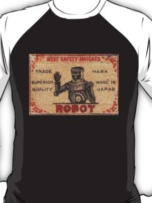 Vintage Robot Match Box T-Shirt