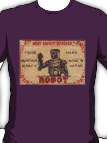Vintage Robot Match Box T-Shirt