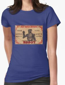Vintage Robot Match Box Womens Fitted T-Shirt