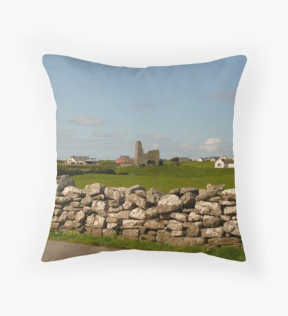 Old and New- Ireland Throw Pillow