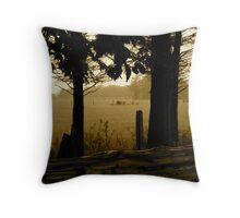 Rain in the Trees - Castle Marter, Ireland Throw Pillow