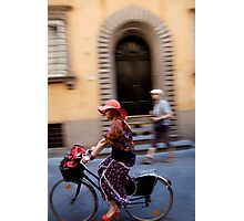 peoplescapes #221, flowers on wheels Photographic Print