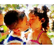 First Kiss Photographic Print
