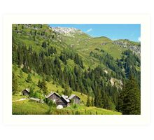 Alpine Cottages in Zederhaus, Austria Art Print