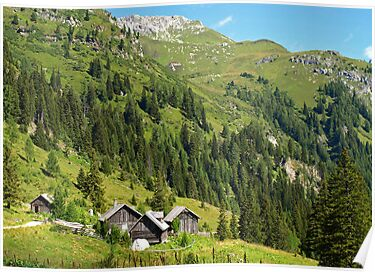 Alpine Cottages in Zederhaus, Austria by Lee d'Entremont