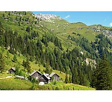 Alpine Cottages in Zederhaus, Austria Photographic Print