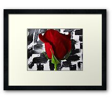 Black And White And Red Framed Print