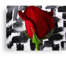 Black And White And Red Canvas Print
