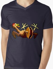 Rubber chicken with a pulley in the middle (Monkey Island) Mens V-Neck T-Shirt