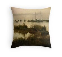 The Old Wooden Pier Throw Pillow