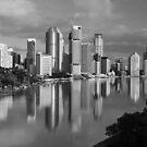 Brisbane River and City. Queensland, Australia. (2) by Ralph de Zilva