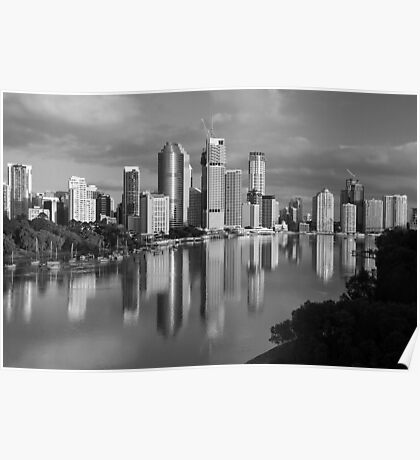 Brisbane River and City. Queensland, Australia. (2) Poster