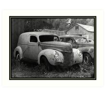 A Nineteen-Forty Ford Panel Truck Art Print