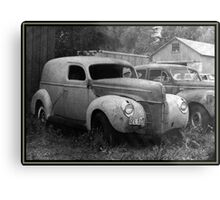 A Nineteen-Forty Ford Panel Truck Metal Print