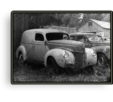 A Nineteen-Forty Ford Panel Truck Canvas Print