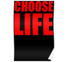 Choose Life Wake Me Up Retro Pop Wham Inspired Poster