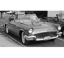 1957 Thunderbird B&W-front side view Photographic Print