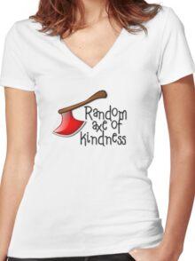 Random axe of kindness Women's Fitted V-Neck T-Shirt