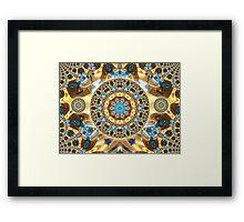 Computer Jewel Kaleidoscope 003 Framed Print