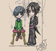 Chibi Ciel and Sebastian Unisex T-Shirt