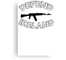 Defend Ireland - Men's Funny T-Shirt Shirt Tee - Irish Humor #13 Canvas Print