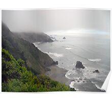 Foggy Coastline Poster