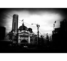 flinders corner, trainspotting Photographic Print