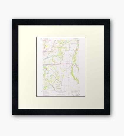USGS Topo Map Oregon Riverside 281281 1969 24000 Framed Print