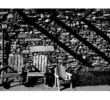 Motel Chairs Photographic Print