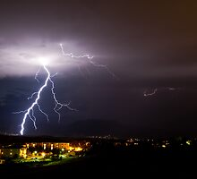 Lightning on the Front Range  by Sean Heslin