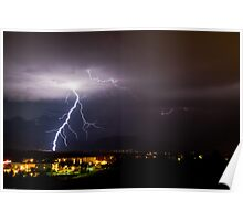 Lightning on the Front Range  Poster