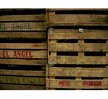 fruit boxes Photographic Print