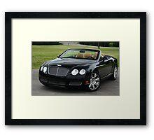 GTC Bentley - 6.0 Twin Turbo W12 ! Framed Print