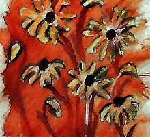 Daisies to lift you up!  watercolor by Anna  Lewis