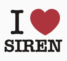 I Love SIREN Kids Clothes