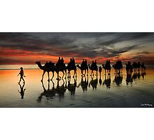 Cable Beach Camel Train Photographic Print