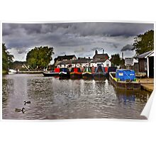 Norbury Junction, Shropshire Union Canal. Poster