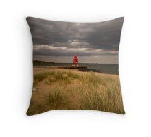 Littlehaven, South Shields Throw Pillow