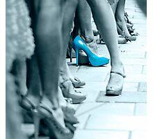 Blue Shoe Photographic Print
