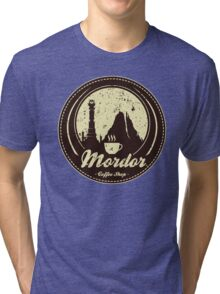 MORDOR COFFEE SHOP Tri-blend T-Shirt