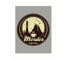 MORDOR COFFEE SHOP Art Print