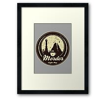 MORDOR COFFEE SHOP Framed Print