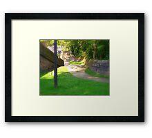 Step into the corner  Framed Print