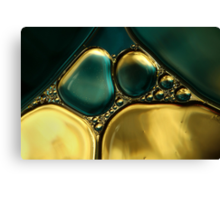 Oil & Water Metalics Collection II Canvas Print
