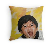 One little devil Throw Pillow