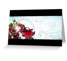 a heart of roses Greeting Card